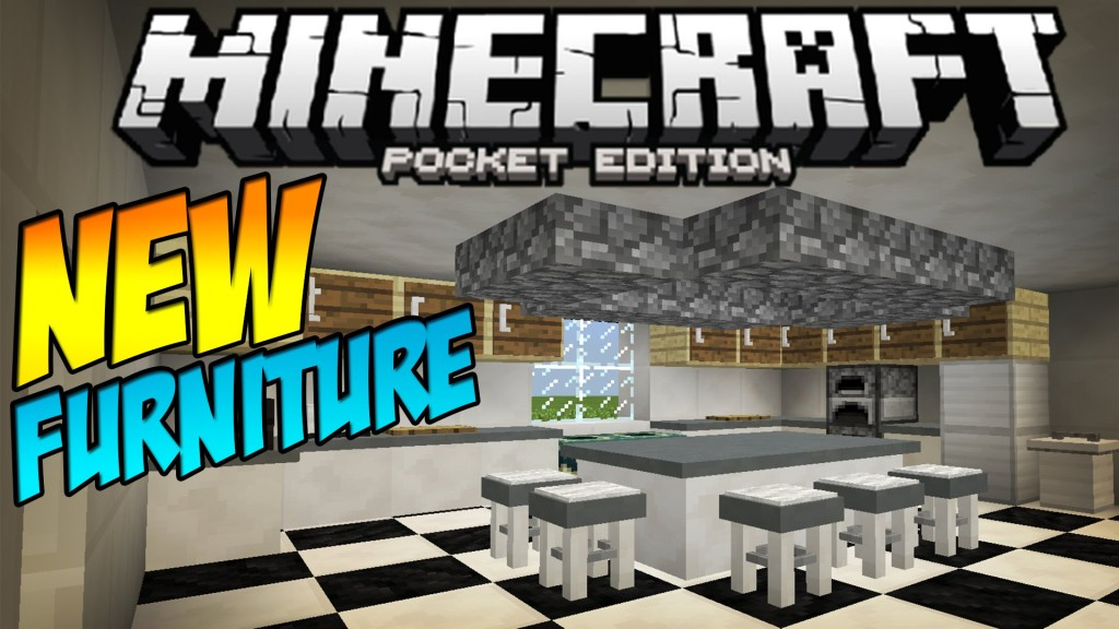 Furniture Mod Table Stools More Minecraft Pocket Edition Fuziondroid