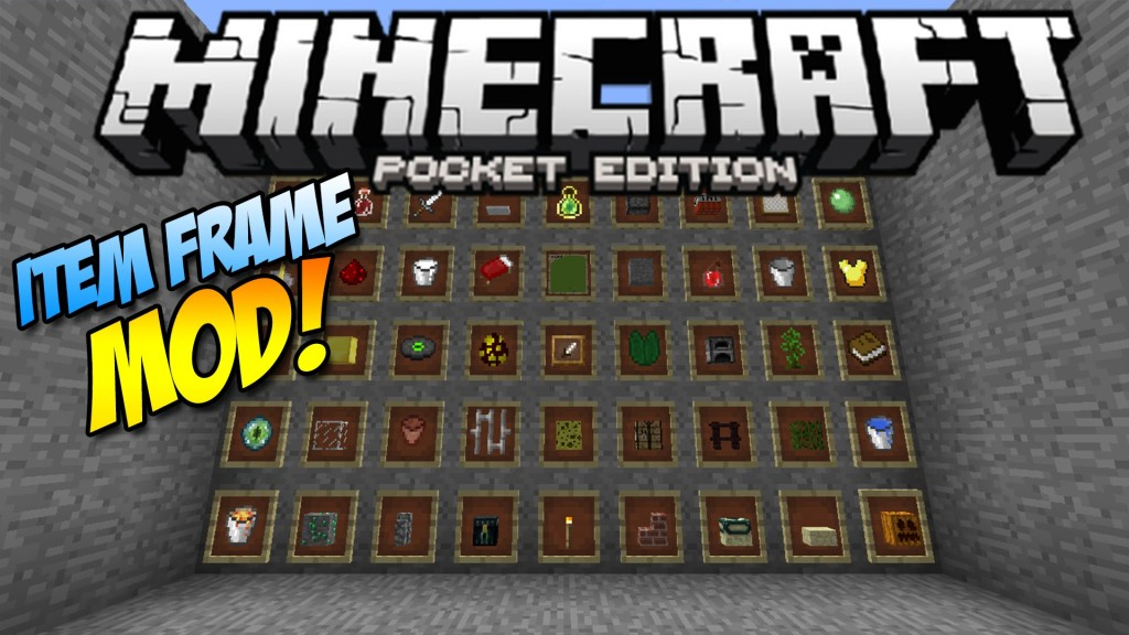 Item frames in mcpe items frame mod for Decoration mod mcpe 0 14 0